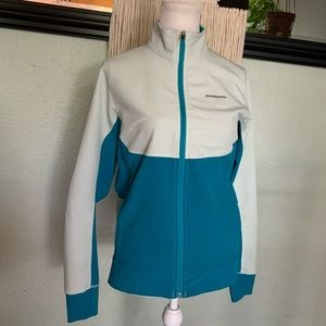 Patagonia light weight zip up two tone blue